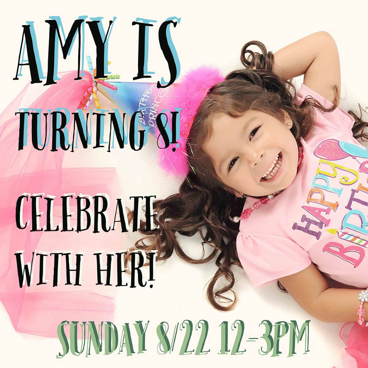 8 year old birthday invite