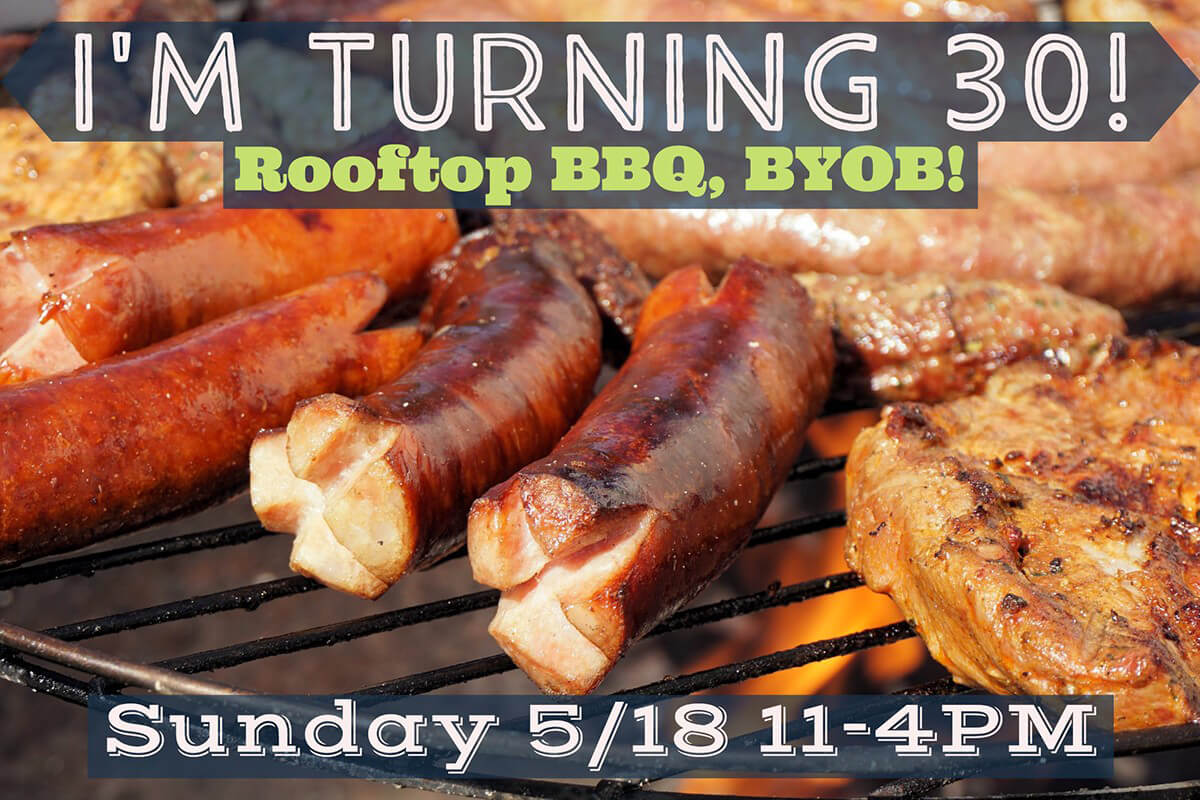 BBQ birthday party invite