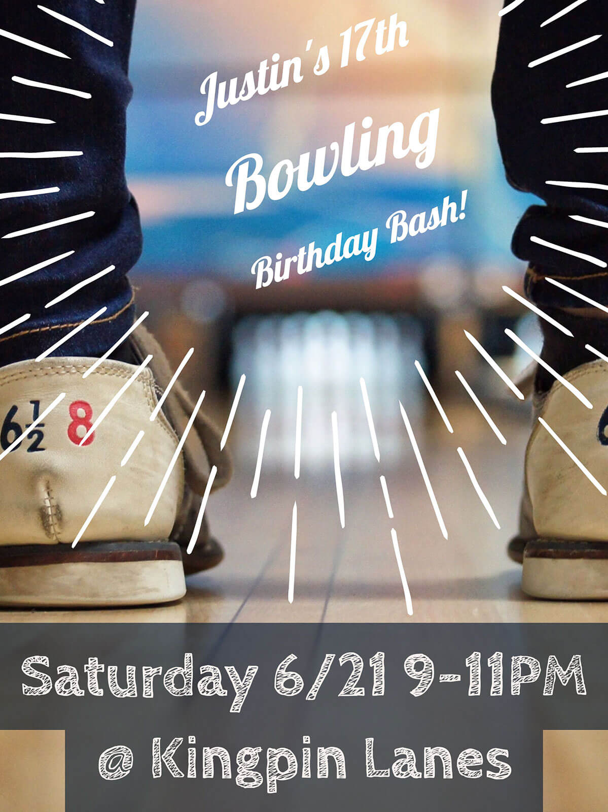 Boy's birthday party invite